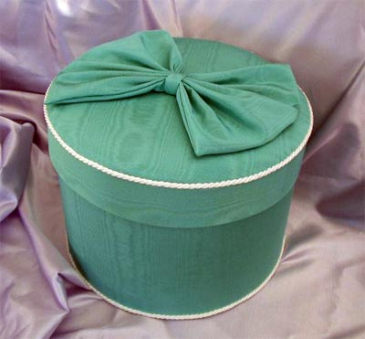 Teal Moire Hat Box PB5...