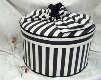 Pandoras Fabric Covered Decorative Hat Boxes - birthdays, weddings